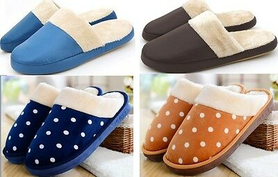 2014 NEW Mens Winter Warm Soft Anti-slip Cotton Slippers Indoor Shoes