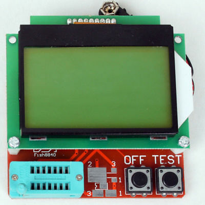 New 12864 LCD Transistor Tester Capacitance ESR Meter Diode Triode MOS NPN LCR