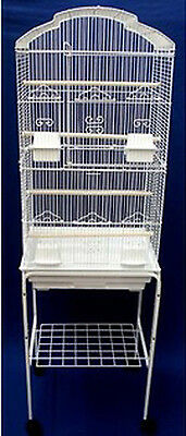 New Large Canary Parakeet Cockatiel LoveBird Finch Bird Cage W/White Stand 159
