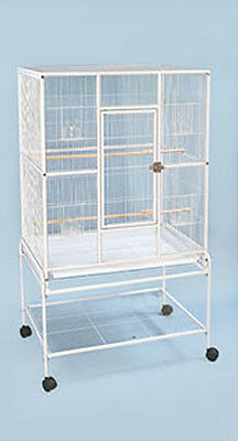 New Large Wrought Iron Flight Finch Parakeet Sugar Glider Cage W/Stand15-070