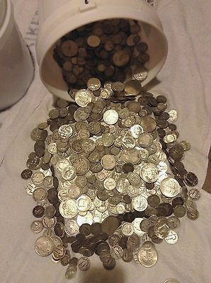 ✯Estate Sale Lot Old Us Coins Hoard ✯ Gold Silver 90% Bullion ✯ Half Pound Lb ✯