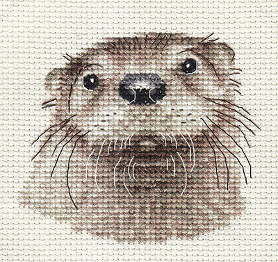 OTTER ~ Full counted cross stitch kit with all materials