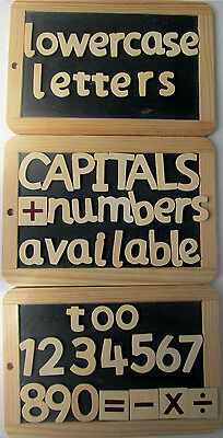 60, Wooden Alphabet, Creation Station, Wooden Lower Case letters, 3.5cm to 6cm