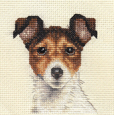 JACK RUSSELL TERRIER ~ DOG, Full counted cross stitch kit with all materials
