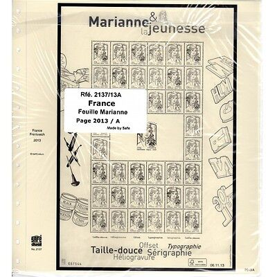 Jeu France Feuille Marianne 2013