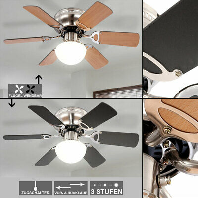 Ceiling fan with lighting and fan pull switch light lamp graphite beech modern