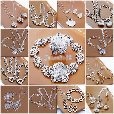 Wholesale Gift jewelry S925 SILVER /Necklace/ Bracelet /Bangle/Earring/Ring sets