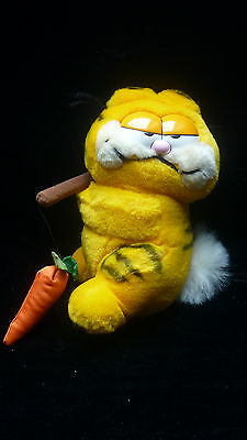 Vintage Garfield Plush Toy Garfield Fishing with Carrot