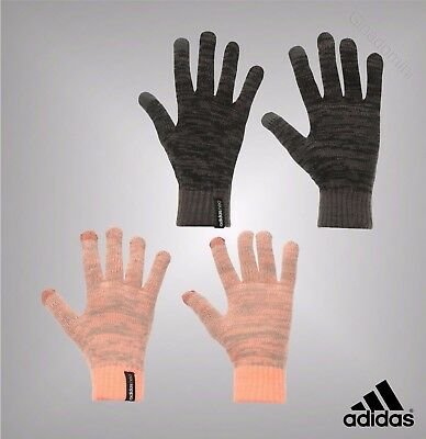 Mens Branded Genuine Adidas Knit Knitted Gloves One Size