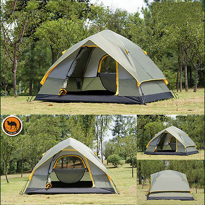 4 Season 4 Person Camping Tent Double-layer Waterproof Windproof Outdoor Hiking