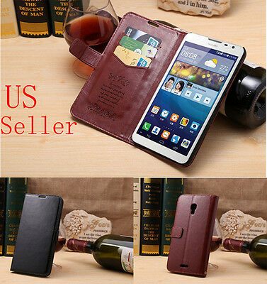 Newest Stand Leather Case Cover with card holder for Huawei Ascend Mate 2 II
