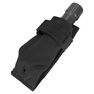Condor Expandable Flashlight Pouch Adjustable Molle Torch Holder Police Black