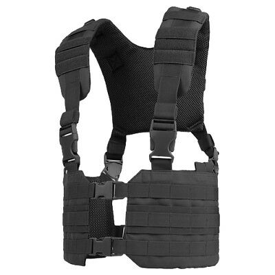 Condor Ronin Tactical Police Carrier Airsoft Vest Combat Molle Chest Rig Black