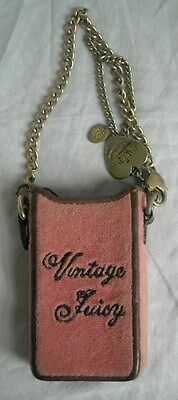 Vintage Juicy Cell Phone Holder Carry Chain & Charms/Juicy Logos Sway/Leather