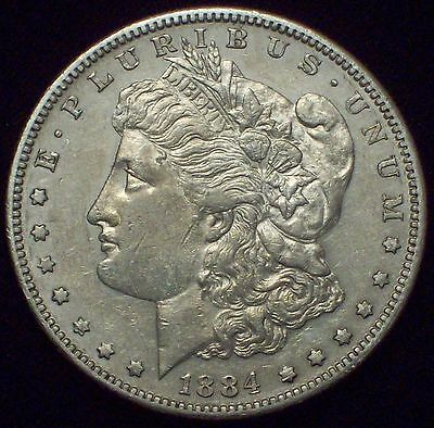1884 S Morgan Dollar SILVER - KEY DATE COIN Authentic High Grade AU Detailing $1