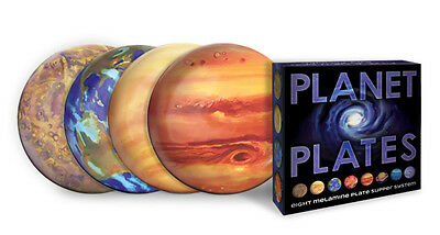 "Set of 8 Melamine PLANET PLATES, 10"", by Unemployed Philosophers Guild"