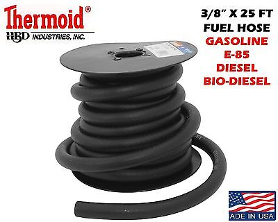 3/8 x 25' FUEL GAS LINE ASOLINE E-85 DIESEL BIO DIESEL THERMOID FAST SHIPPING