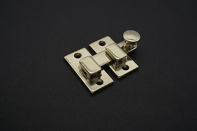 Latch SHUTTER LATCH antique style cabinet latch door latch SOLID POLISHED BRASS