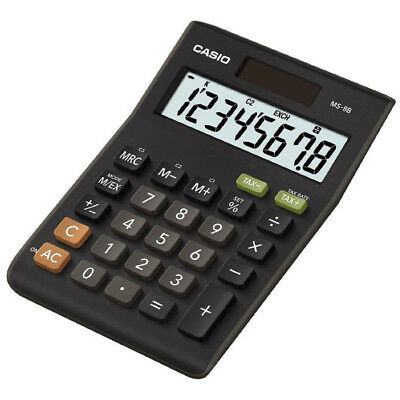 Casio MS8B Large 8 Digit Multi Function Tax VAT Desk Calculator Dual Solar Power