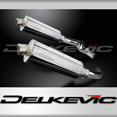 HONDA CBR1000F 1987-1999 350mm OVAL STAINLESS BSAU SILENCER EXHAUST KIT