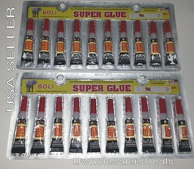 Super Glue - 'Cyanoacrylate Adhesive' 20 Tiny Tubes