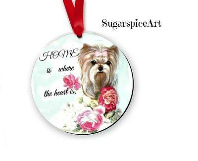 Yorkie Yorkshire Terrier Christmas Ornament Tree Decoration by SugarspiceArt