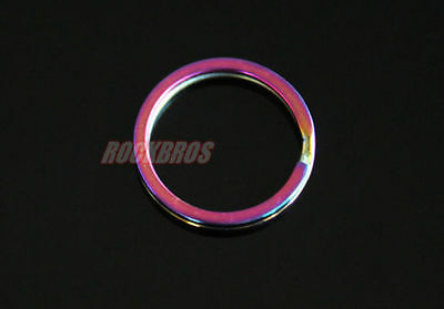 ROCKBROS Titanium Ti Key Chain Key Ring Split Ring Rainbow Finish Size L 1pcs