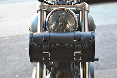 Handcrafted Leather Tool Bag For Harley Davidson Dyna, Sportster, Softail