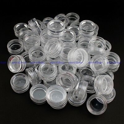 60Pcs 3ml Cosmetic Empty Jar Pots Eyeshadow Makeup Face Cream Lip Balm Container