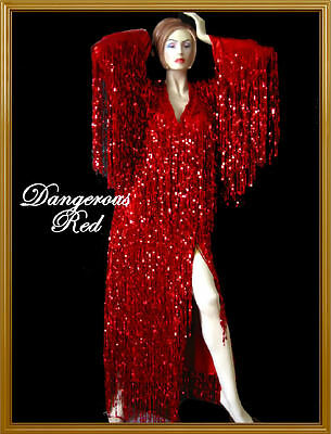 RED Sequin Transform DRAG QUEEN CHRISTMAS COSTUME Gown