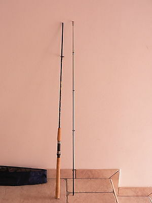 Canna Triana made in Italy 2,10 5-15 gr pesca a spinning trota, black, luccio