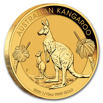 Piece or 1/10 once 3,11 gr Kangourou Australie 2017 1/10 oz Gold Kangaroo