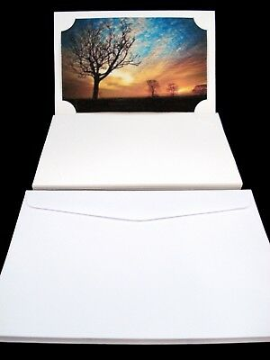 10 x Blank Photo Cards and Envelopes White Craft Invitation Gift FREE POSTAGE