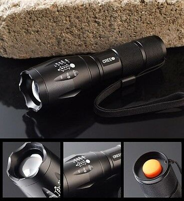 UltraFire 2000 LM E17 CREE XM-L T6 Flashlight 5-Mode Torch zoomable LED Lamp、