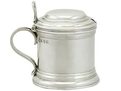 Antique George V Britannia Standard Silver Mustard Pot by Heming & Co Ltd