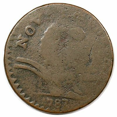 1787 M 58-N New Jersey Colonial Copper Cent Coin