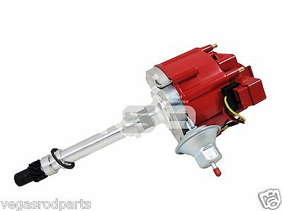 Small  and Big block Chevy GM  aluminum HEI Distributor red cap 327 305 350 454