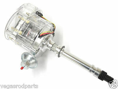 Small Big block chevy GM  HEI Distributor Clear Super Cap 327 305 350 454 396