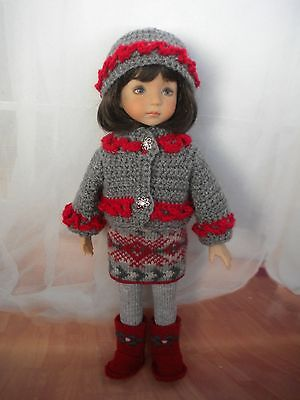 "Winter Nordic Outfit for Effner 13"" LIttle Darling"
