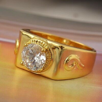 Xu ping jewelryBeautiful with drill, gold ring cool  gold.[J9 inches Z 0001A]
