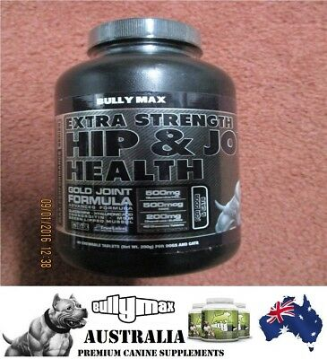 Bully Max Extra Strength Hip N Joint Health Level 3 (Gold) 1 Bottle 40 Tablets.