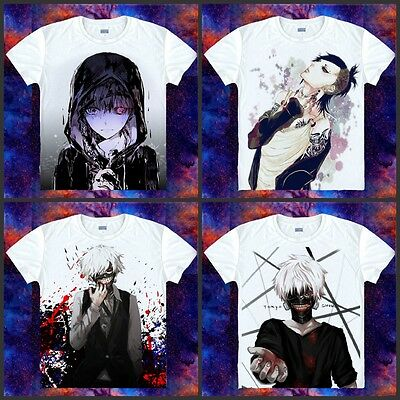 Anime Tokyo Ghouls Kaneki Ken Clothing COS Casual Short Sleeve T-shirt 005