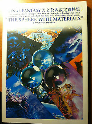 -= Final Fantasy X-2 book - The Sphere with Materials - Japanese - rare! =-