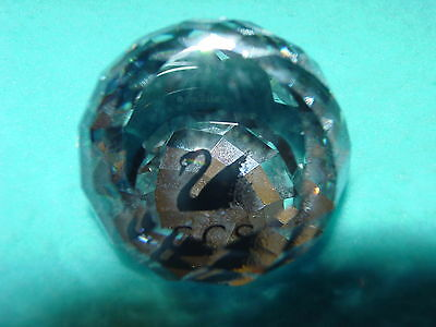 Swarovski Crystal  PAPERWEIGHT with SWAN INSIDE SCS REFLEXS Gorgeous
