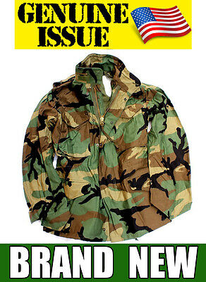 New Us Military M65 Field Jacket Genuine M-65 Army Woodland Camo Extreme Cold Xs