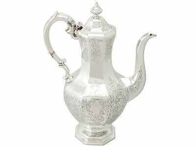 Antique Early Victorian Scottish Sterling Silver Coffee Pot by Walker Crichton