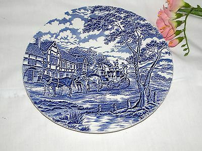 "Myott Royal Mail Blue & White Dinner Plate 10"" Replacement Plate"