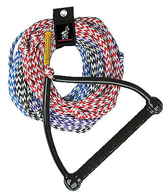 Airhead 4 Section 75' Performance Waterski ski rope/EVA handle & rope tidy