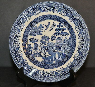 "ROYAL WESSEX  ""BLUE WILLOW""  B&B PLATE & SAUCER (2- PIECE SET) -CHELSEA SHAPE!!!"