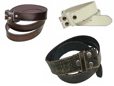 """#Wn57 - Distressed Leather 1.5"""" Wide Belt With Snaps, 3 Colors & Sizes 4 Most"""